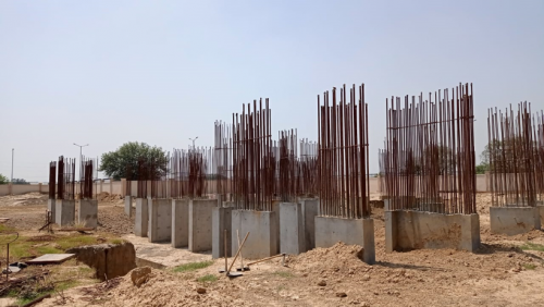 Non Teaching Staff Residence –  grade slab works in progress 22.06.2021.png