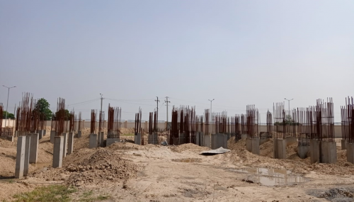 Associate Professors Residence – column casting work in completed 22.06.2021.png