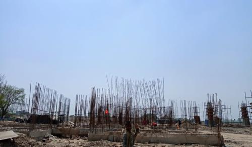Hostel Block H7-  soil filling work in completed grade slab beam casting  work in progress 22.06.2021.png
