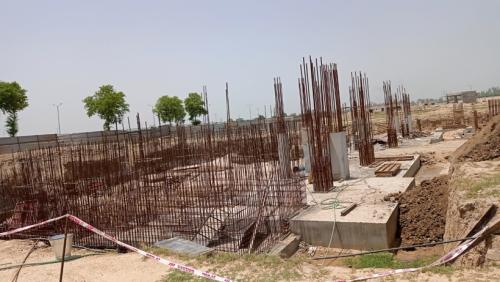 AUDITORIUM - RCC Shear Wall & Column casting work in progress 29.06.2021.png