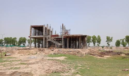 Director's residence – slab casting  work in completed 1st floor column casting work in progress 29.06.2021.png