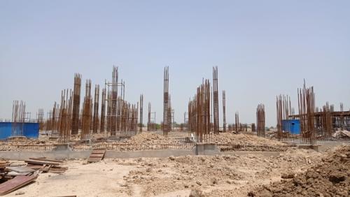 Academic block – 1st pit grade slab work in progress 29.06.2021.png