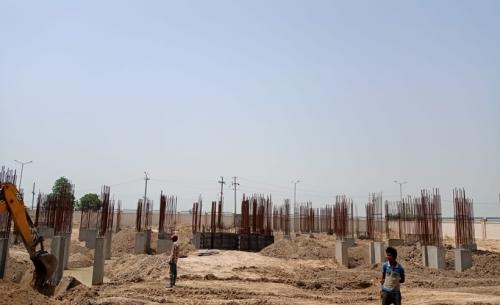 Associate Professors Residence – column casting work in completed soil filling work in progress 29.06.2021.png