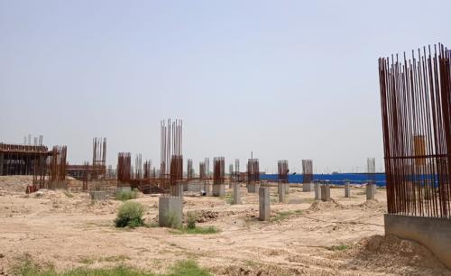 SPORTS COMPLEX –  grade slab steel work in progress 29.06.2021.png
