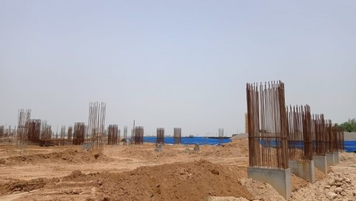 SPORTS COMPLEX –  grade slab steel work in progress 05.07.2021.jpg