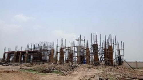 Professor's residence – grade slab column casting work in progress 05.07.2021.jpg