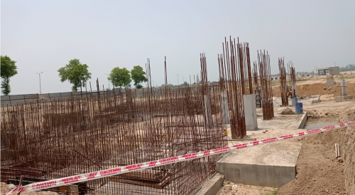 AUDITORIUM - RCC Shear Wall & Column casting work in progress 05.07.2021.png