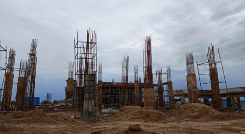 Academic block – 2nd pit grade slab works in progress column casting work in progress 13.07.2021.png