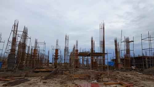 Academic block – 1st pit column casting  work in progress 13.07.2021.png