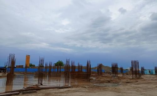 SPORTS COMPLEX –  grade slab steel work in progress 13.07.2021.png
