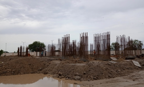 Non Teaching Staff Residence –  grade slab works in progress 13.07.2021.png