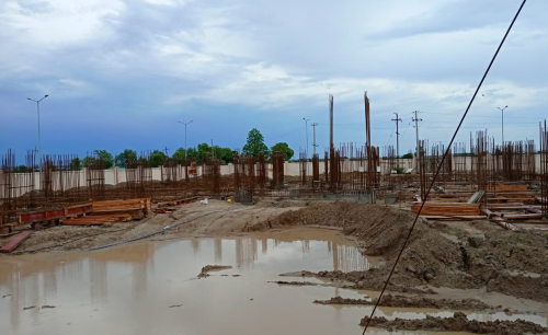 Associate Professors Residence – Soil filling work in completed 13.07.2021.png