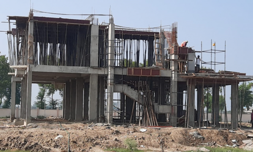 Director's residence – slab casting  work in completed 1st floor column casting work in progress 13.07.2021.png
