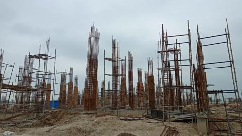 Academic block – 1st pit column casting  work in progress 20.07.2021.png