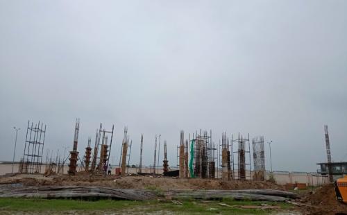 Hostel for Married Students –  grade slab work in progress column casting work in progress  20.07.2021.png