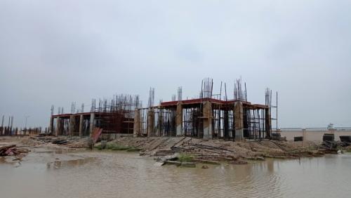 Professor's residence – grade slab column casting work in progress 20.07.2021.png