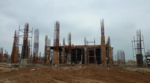 Academic block – 2nd pit grade slab works in progress column casting work in progress 20.07.2021.png