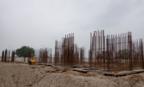 Non Teaching Staff Residence –  grade slab works in progress 20.07.2021.png