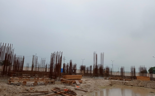 Associate Professors Residence – Soil filling work in completed 20.07.2021.png