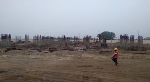Non Teaching Staff Residence –  grade slab works in progress 26.07.2021.png