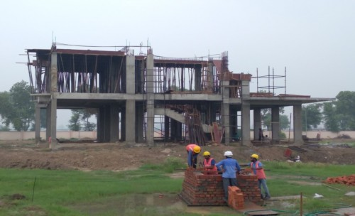 Director's residence – slab casting  work in completed 1st floor column casting work in progress 26.07.2021.jpg