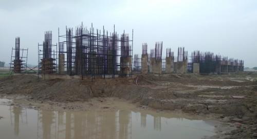 Faculty & Admin block – grade slab works in progress column casting work in progress 26.07.2021.jpg