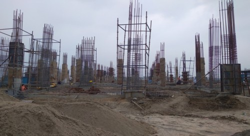Academic block – 1st pit column casting work in progress 26.07.2021.jpg