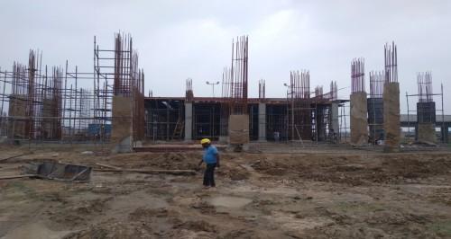 Academic block – 2nd pit grade slab works in progress column casting work in progress 26.07.2021.jpg