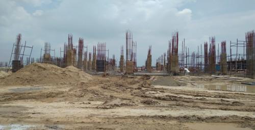 Academic block – 1st pit column casting  work in progress 02.08.2021.jpg