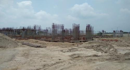 Non Teaching Staff Residence –  grade slab works in progress 02.08.2021.jpg