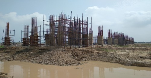 Faculty & Admin block – grade slab works in progress column casting work in progress 02.08.2021.jpg