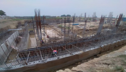 AUDITORIUM - RCC Shear Wall _ Column casting work in progress 09.08.2021.jpg