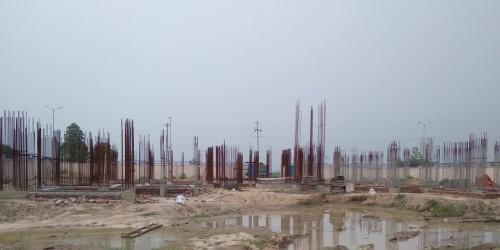 Associate Professors Residence – Soil filling work in completed grade slab plinth beam work in progress 09.08.2021.jpg