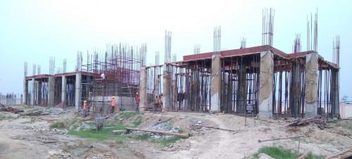 Professor's residence – grade slab column casting work in progress slab shuttering work in progress  09.08.2021.jpg
