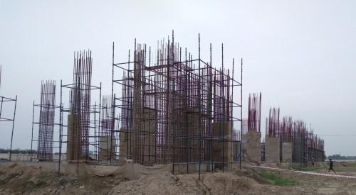 Faculty _ Admin block – grade slab works in progress column casting work in progress 09.08.2021.jpg