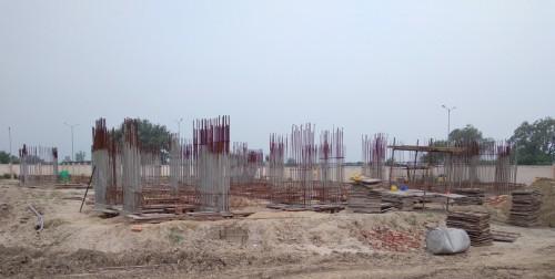 Non Teaching Staff Residence –  grade slab works in progress plinth beam work in progress 9.08.2021.jpg