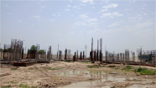 Associate Professors Residence – Soil filling work in completed grade slab plinth beam work in progress 16.08.2021.png