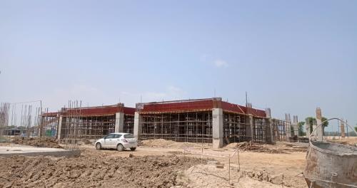 Dinning block –  Column casting  works in progress slab shuttering work in progress  16.08.2021.png