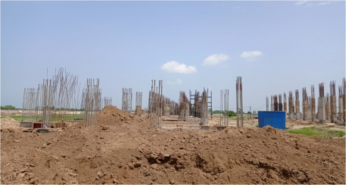INCUBATION – soil filling work in completed plinth beam casting work completed 16.08.2021.png
