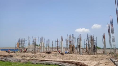 Hostel for Married Students –  grade slab work in progress column casting work in progress  16.08.2021.png
