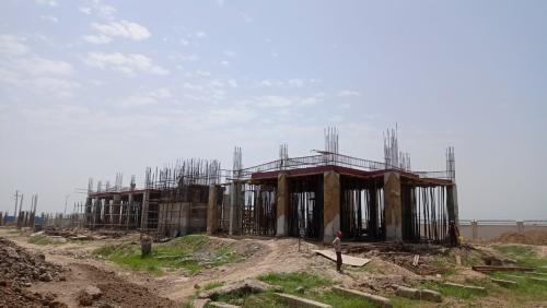 Professor's residence – grade slab column casting work in progress slab shuttering work in progress  16.08.2021.png