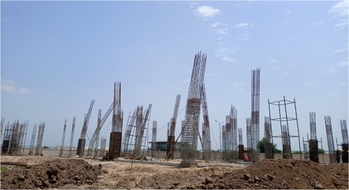 COMMUNITY CENTER – grade slab beam casting work in completed 16.08.2021.png