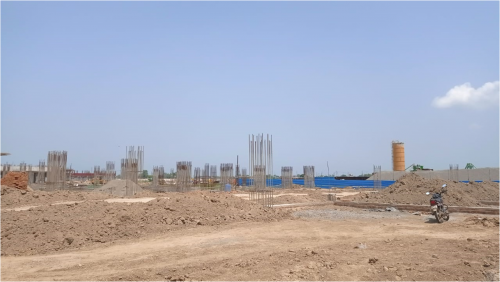 SPORTS COMPLEX –  grade slab steel work in progress 16.08.2021.png