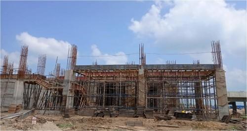 Academic block – 2nd pit grade slab works in progress column casting work in progress slab casting completed 23.08.2021.jpg