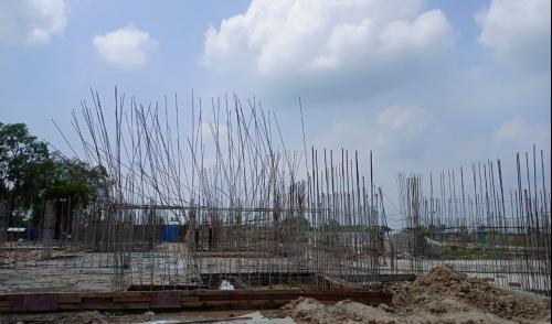 Hostel Block H5 – Grade slab  casting work completed 23.08.2021.png