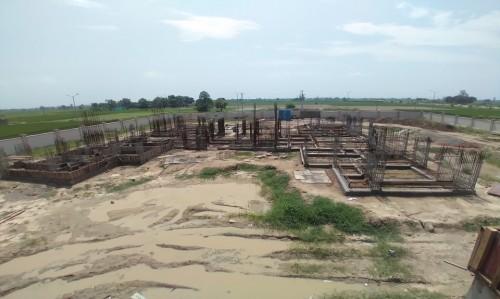 Associate Professors Residence – Soil filling work in completed grade slab plinth beam casting work in progress 09.09.2021.jpg