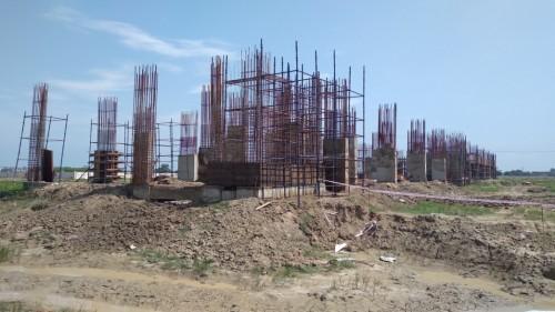 Faculty & Admin block – grade slab works in progress column casting work in progress 09.09.2021.jpg