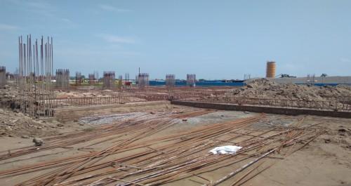 SPORTS COMPLEX –  grade slab steel work in progress plinth  beam casting  work in progress 09.09.2021.jpg