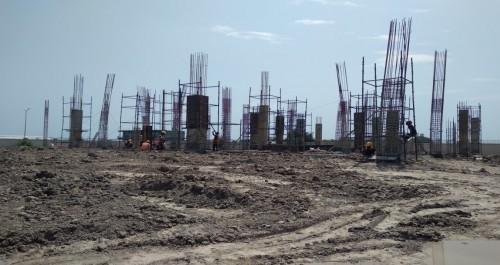 COMMUNITY CENTER – grade slab casting work in completed column casting work in progress  09.09.2021.jpg
