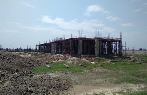 Professor's residence – grade slab work in progress slab casting work completed 09.09.2021.jpg
